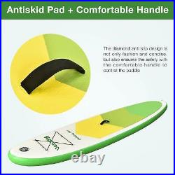 10'30x6 Inflatable Sup All Around Paddle Board, With Full Accessories, Green