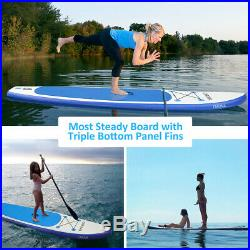 10.5FT Inflatable SUP Stand Up Paddle Board Surfboard Surfing ISUP Water Kayak