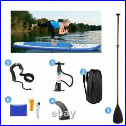 10.5FT Inflatable Stand Up Paddle Board Surfboard Surfing ISUP Water Kayak 158kg