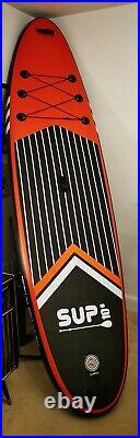 10' 6 Stand Up Paddle Board Inflatable Red & Black Pinstripe UK Stock BNIB no3/7