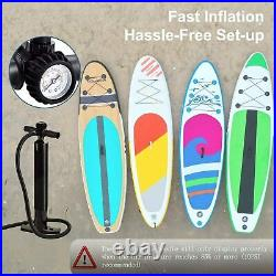 10'6 Stand Up Paddle Board Paddleboard Inflatable SUP Surf Board Adult Beginner