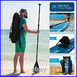 10'6 Stand up Paddle Board Inflatable SUP Barracuda Blue with Kayak Seat & Kit