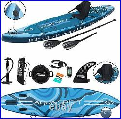 10'6 iSUP Inflatable Stand up Paddle Board Accessories Barracuda Blue
