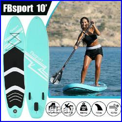 10' Inflatable SUP Paddle Board 10ft Stand Up Paddleboard Kayak Complete Set