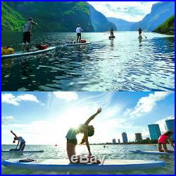 10 Inflatable Stand Up Paddle Board SUP Removable Fin & Portable Backpack