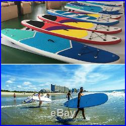 10 Inflatable Stand Up Paddle Board SUP Removable Fin withOar & Backpack Yellow