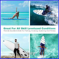 10'' Inflatable Stand Up Paddle Board SUP Surfboard with Complete Kit 6'' thick