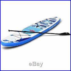 10FT 305cm Inflatable SUP Stand Up ISUP Paddle Board Sports Surf Racing With Pump