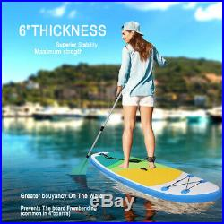 10FT 3Fins Inflatable SUP Paddle Board 10ft Stand Up Paddleboard Kayak 6 Thick