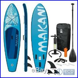 10FT 5 Inflatable stand up paddle Makani surf board SUP paddleboard kayac blue