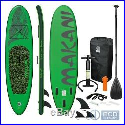 10FT 5 Inflatable stand up paddle Makani surfboard SUP paddleboard kayac green