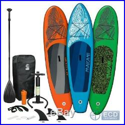 10FT 5 Inflatable stand up paddle Makani surfing board SUP paddleboard kayac