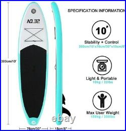 10FT INFLATABLE STAND UP PADDLE BOARD FULL PACKAGE iSUP KIT INFLATABLE SUP