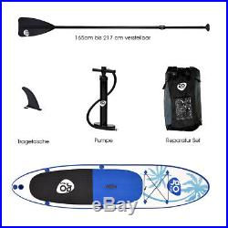10FT ISUP Inflatable Surfing Board Soft Surf Stand Up Paddle Board Pump 330CM
