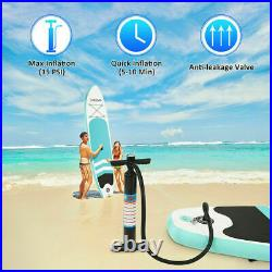 10FT Inflatable Paddle Board SUP Stand Up Paddleboard Surfing surf Board kayak