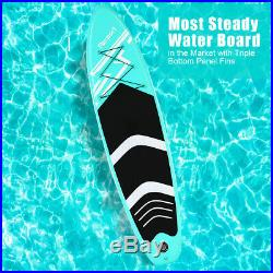 10FT Inflatable Paddle Board SUP Stand Up Surfboard Water Racing with Accessories