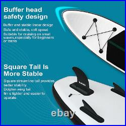 10FT Inflatable Paddle Sup Board Stand Up Paddleboard Surfing Board Set with Pump