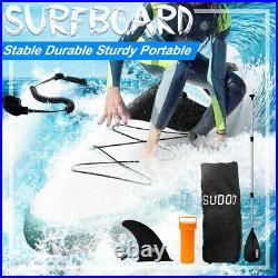 10FT Inflatable SUP Paddle Board Stand Up Surfing Surfboard Paddling Kayak Pump