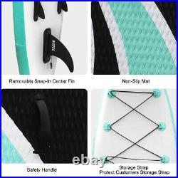 10FT Inflatable SUP Stand Up Paddle Board Surfing surf Board paddleboard 3fins