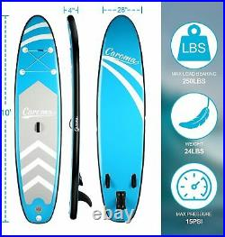 10FT Inflatable Stand Up Paddle Board Surfing SUP Surfboard Accessories Kayak UK