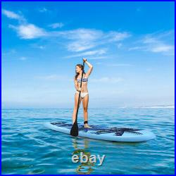 10FT Inflatable Surfboard Stand-Up Paddle Board Set for Adult Adjustable Length