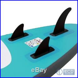 10FT Inflatable stand up paddle Maona surf board SUP paddleboard turquoise