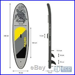 10FT Inflatable stand up paddle Maona surfing surf board SUP paddleboard gray