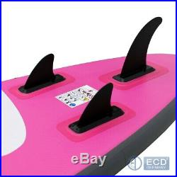 10FT Inflatable stand up paddle Maona surfing surf board SUP paddleboard pink