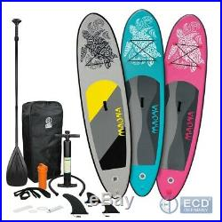 10FT Inflatable stand up paddle surfing surf board SUP paddleboard Maona kayak