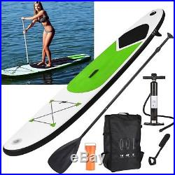 10FT SUP Inflatable Stand Up Paddle Board Surfboard Set Pump Carry Bag Leash