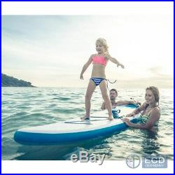 10FT SUP inflatable stand up surfing board soft surf paddle board blue colour