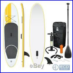 10FT SUP inflatable stand up surfing board soft surf paddle board yellow colour