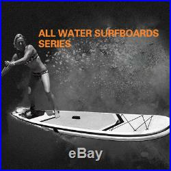 10Inflatable Stand Up Paddle Board Yellow SUP Removable Fin & Portable Backpack