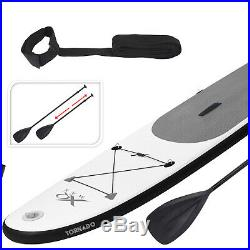 10ft 6 White Grey Inflatable Paddle Board Stand Up SUP Paddleboard Pump Bag