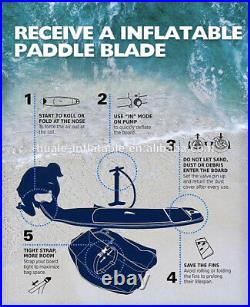10ft 6inc SUP HUALE INFLATABLE PADDLEBOARD INC ACCESSORIES 320x80x15cm (6inch)