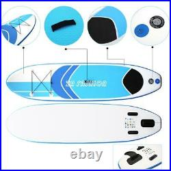 10ft Inflatable Paddle Board SUP Stand Up Paddleboard Accessories Paddle Set DHL
