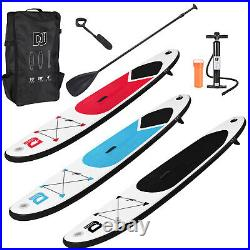 10ft Inflatable Paddle Board Sports SUP Surf Stand Up Bag Pump Oar Water Racing