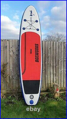 10ft Red Inflatable Paddle Board River Ocean Stand Up Paddle Water Sport Double