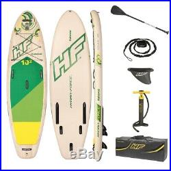 10ft SUP Inflatable Paddle Board River Stand Up Paddleboard Pump Oar 6in Thick