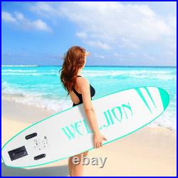 11'/10' Ft Sup Inflatable Surfboard Stand-Up Paddle Board Set Float Longboard UK