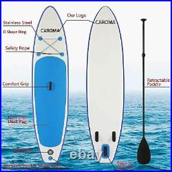 11FT Inflatable SUP Paddle Board Stand Up Surfing Surfboard Paddling Kayak Pump