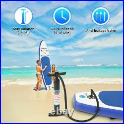 11FT Inflatable Stand Up Paddle SUP Board Surfing surf Board paddleboard Blue UK