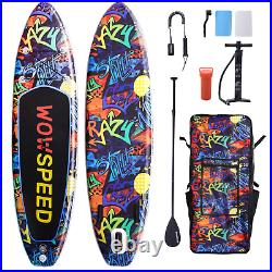 11ft Inflatable Stand Up Paddle Board SUP Surfboard Adjustable Non-Slip Deck Set