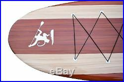 12'6 Big Stand Up Paddle Board Non Inflatable SUP Hardboard For Heavy Riders
