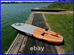 2021 8'5 x 32 Aztec Air Inflatable Stand Up Paddle Board Surf & White Water
