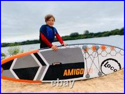 2021 Loco 10'5 x 34'' Amigo Air Inflatable Stand Up Paddle Board Full Package