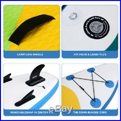 3 Fins Inflatable SUP Paddle Board 10ft Stand Up Paddleboard Kayak 6 Thick UK a