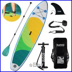 3 Fins Inflatable SUP Paddle Board 10ft Stand Up Paddleboard Kayak 6 Thick ak