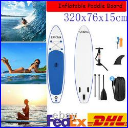 320cm SUP Paddle Inflatable Board Stand Up Paddleboard Kayak Surfing Board UK