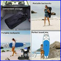 320cm Surf Sports Paddle Inflatable Stand Up Paddle Board PVC SUP Pump Kayak TOP